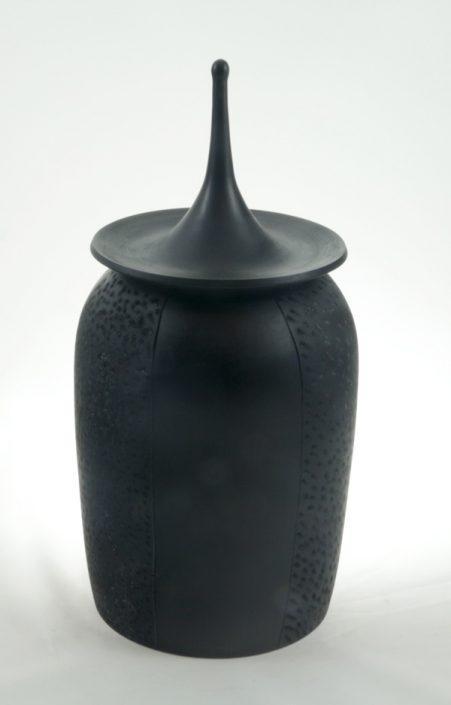 Wood cremation urn - #77- White Birch 6 x 12.5in.