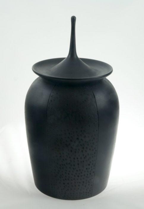 Wood cremation urn - #78- White Birch 7 x 13.25in.