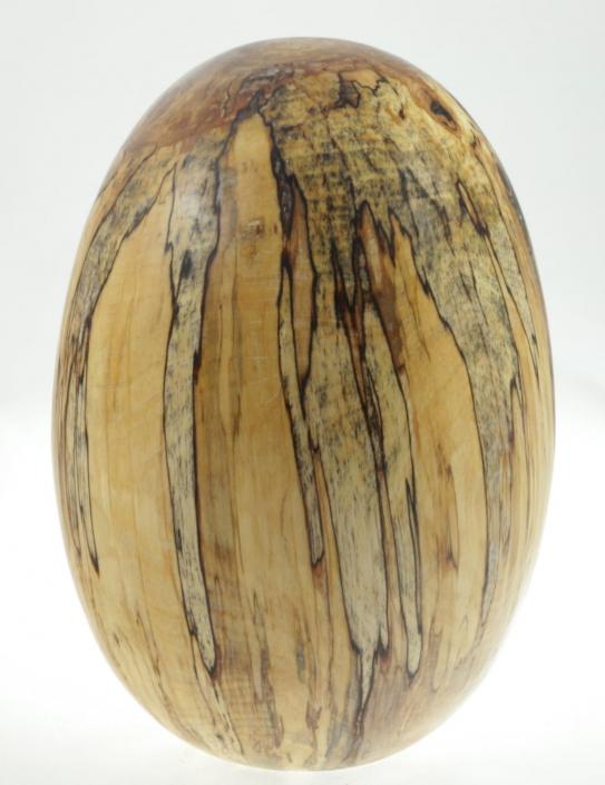 Wood cremation urn - #95-Spalted White Birch 7,75 x 10,75in.