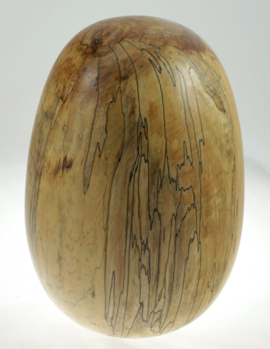Wood cremation urn - #96a-Spalted Maple 7.5 x 10.75in.