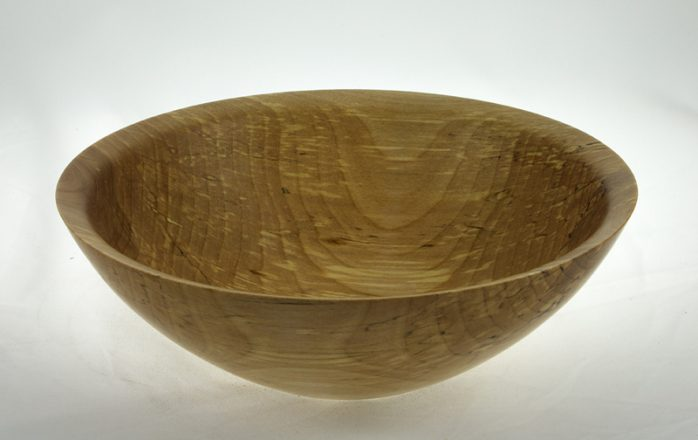 Wooden salad bowl Spalted Yellow Birch #596