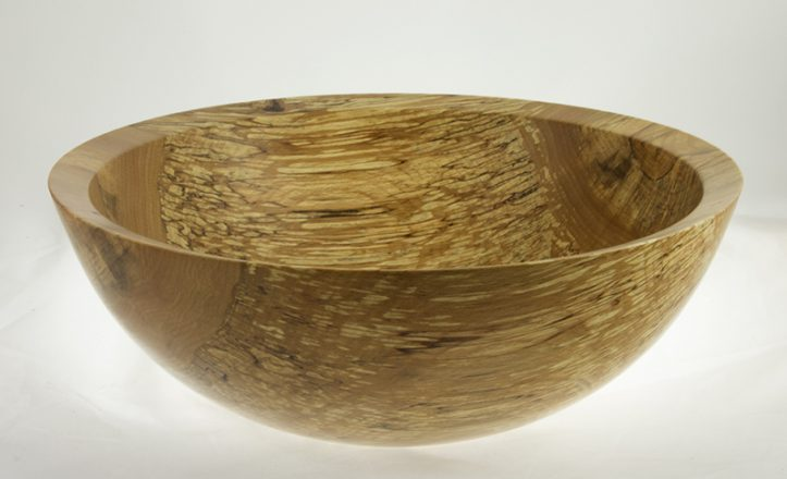 Wooden salad bowl Spalted Beech #623