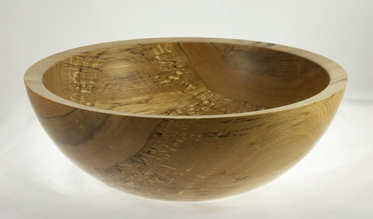 Wood bowl for salad Spalted Beech #624
