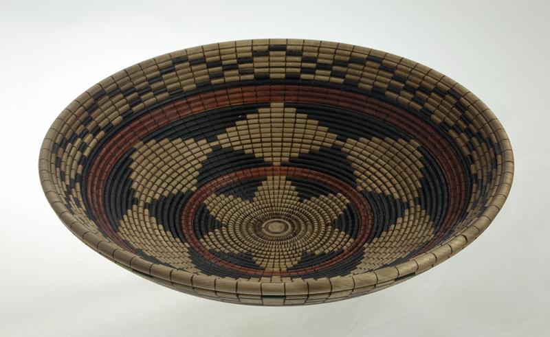 Basket illusion wood bowl