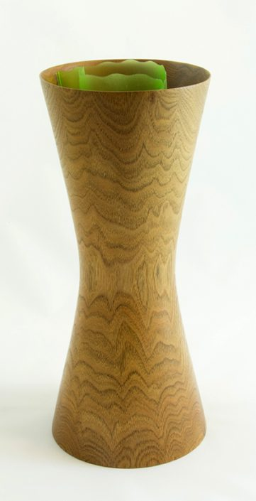 Wood Vase for Flower Butternut #322- 11.5 x 5in.