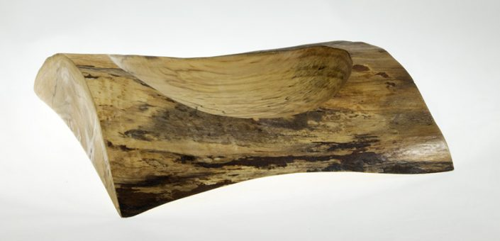 Wood Bowl Spalted Maple - #688 - 8.25 x 2in.