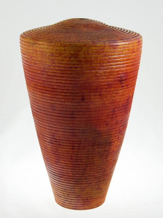 Wood Vase White Birch Colored - 694- 7x12in.