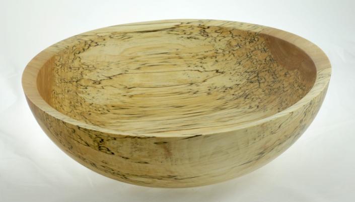 Wooden salad bowl Spalted White Birch #769