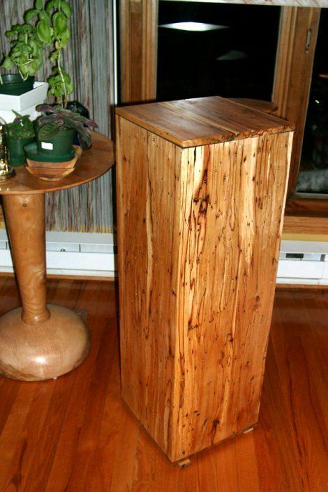 Spalted Wood Pedestal