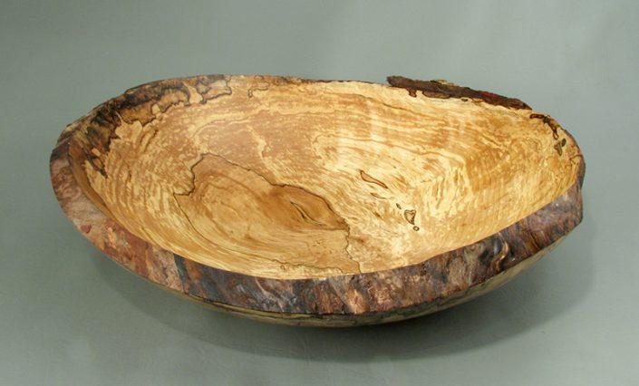Saplted Yellow Birch Burl bowl