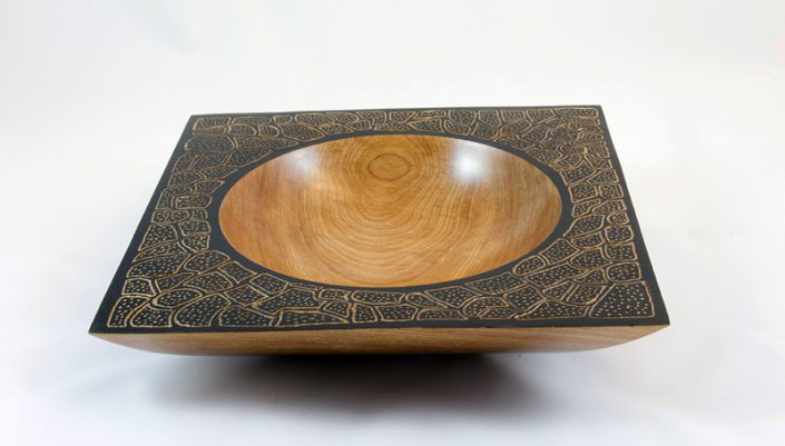 Yellow Birch square bowl