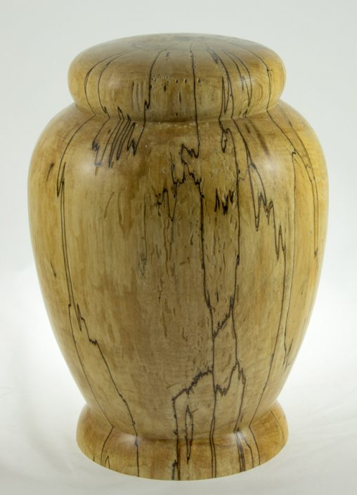 Wood cremation urn - #68-Spalted Maple 7.5 x 10.5inch