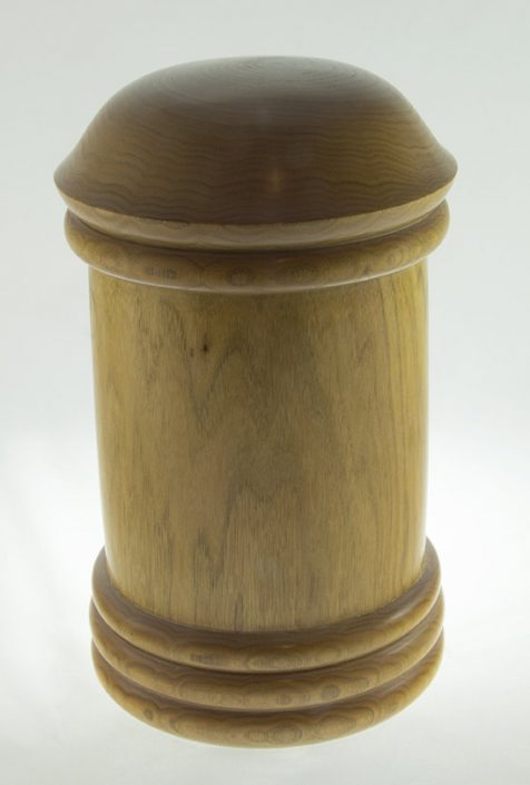 Wood cremation urn - #70-Butternut 6.5 x 11.75in.