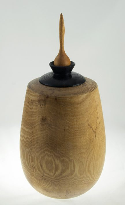 Wood cremation urn - #76- Ash 7.5 x 15.5in.