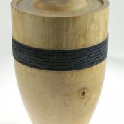 Wood cremation urn - #90- Ash 7.25 x 10.5in.