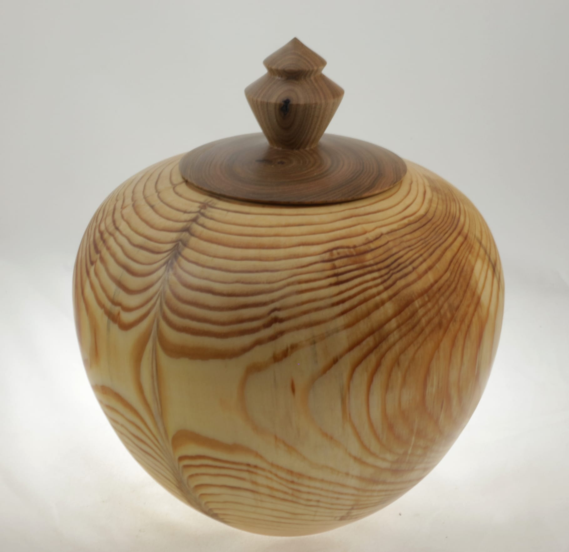Wood cremation urn - #106a-pine 9 x 7.25in.