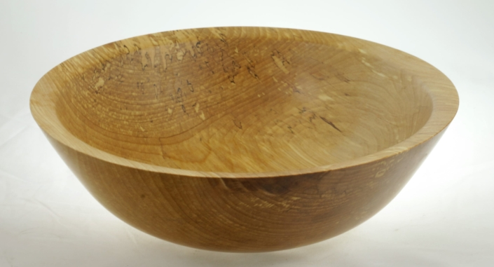Wood salad bowl #812-Spalted White Birch 12.5in. x 4in.