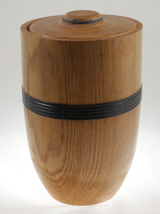 Wood cremation urn - #107a-oak 7 x 11in.
