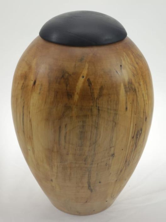Wood cremation urn - #120-Spalted White Birch 7.5 x 11in.