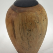 Wood cremation urn - #127-Spalted Maple 7.25 x 10in.