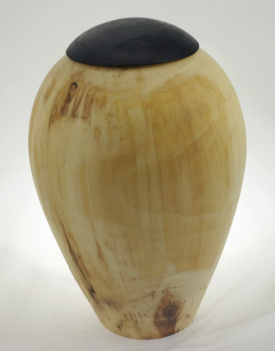 Wood cremation urn - #128-Aspen 7.5 x 10in.