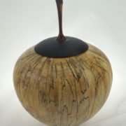 Wood cremation urn - #130-Spalted Maple 7 x 9in.