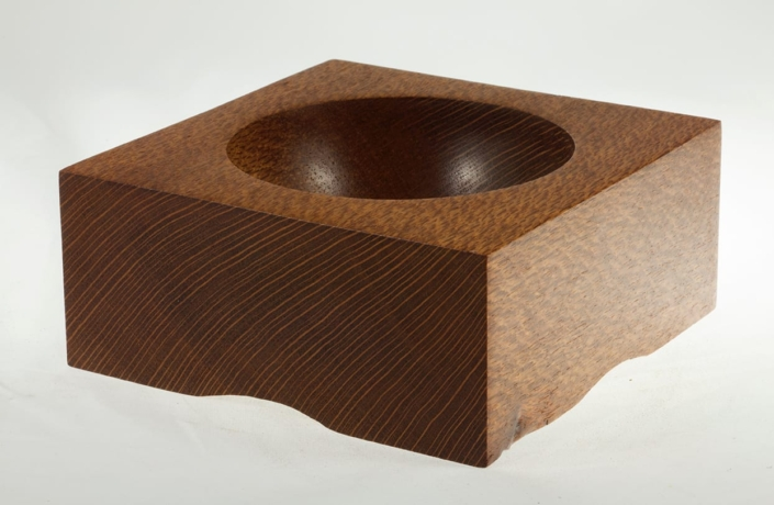 Wooden bowl Lace Wood #607-6.25 x 2.75in.