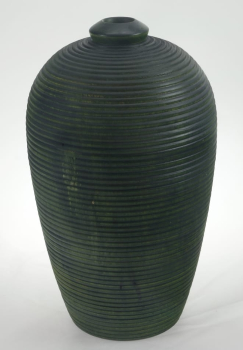 Wood Vase White Birch Colored - 680a- 6x10in.