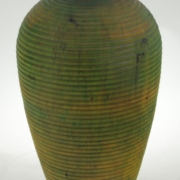 Wood Vase White Birch Colored - 681- 5.25x9in.