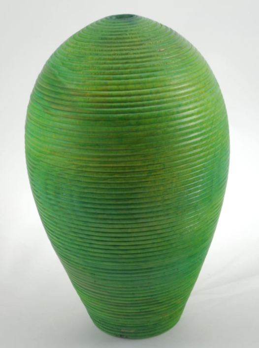 Wood Vase White Birch Colored - 684a- 7.5x12in.