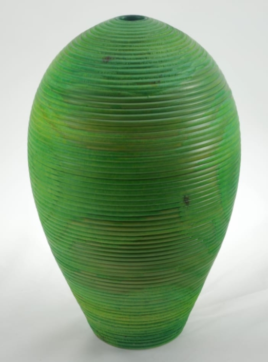 Wood Vase White Birch Colored - 684c- 7.5x12in.