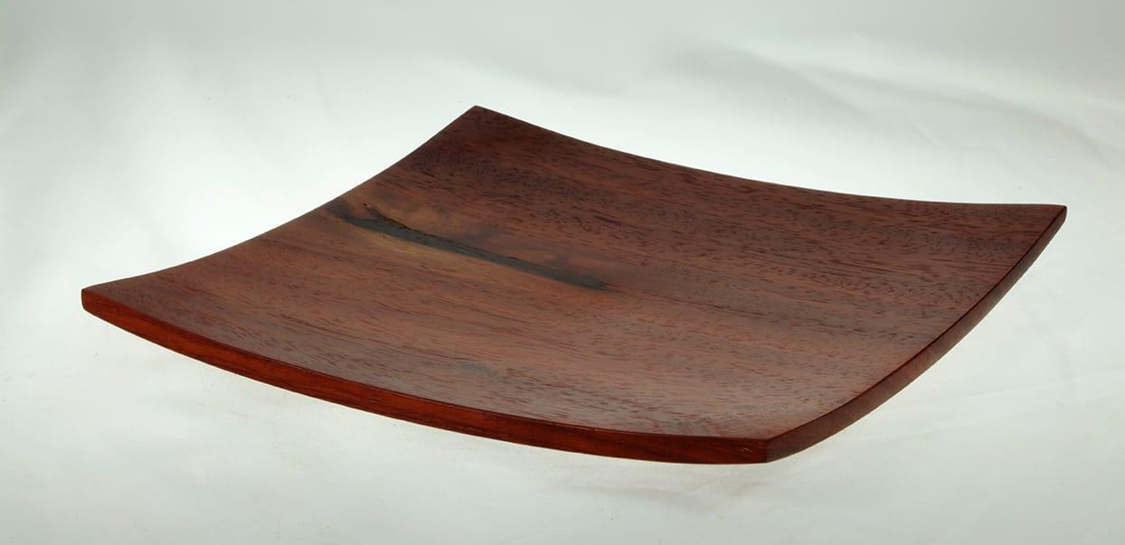 Wooden plate Padauk #741-8.75 x 1in.