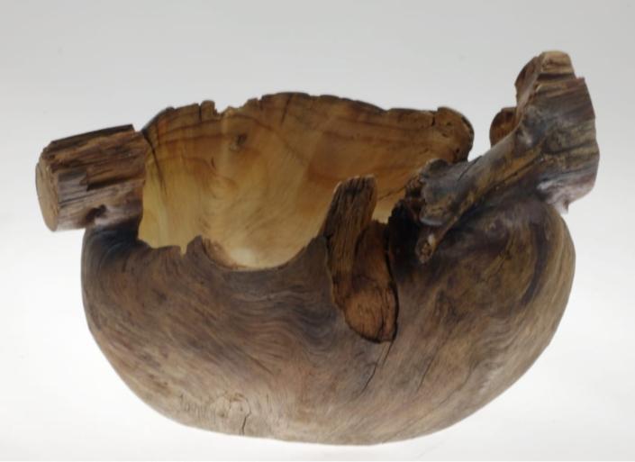 Wooden bowl Fir Burl #884-5.5 x 6.5 x 3.5in.
