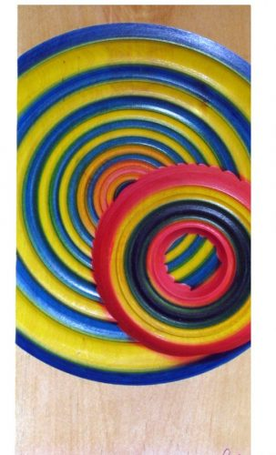 Cercle bouleau - Art mural en bois tourné. #395aa
